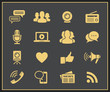 Media and social icons