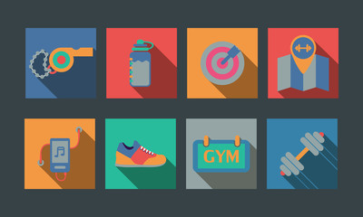 Illustration of sport flat icon