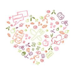 Illustration of healthy lifestyle background