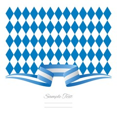 Abstract background Bavarian flag ribbon