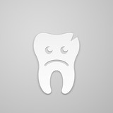Sad tooth whith fissure poster