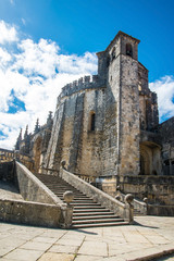 Medieval Templar castle in Tomar, Portugal. Landmark in Europe