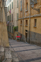 Southern France, city Nice: narrow street of the Old Town
