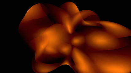 Orange random effect against black background