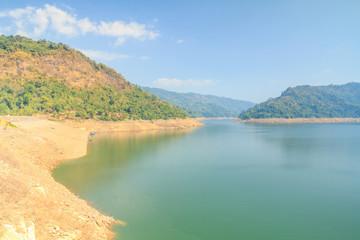 Beautiful of Khun Dan Prakarnchon Dam
