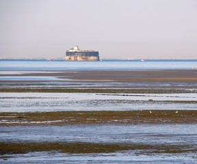 Lighthouse in the low tide