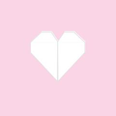 paper hearts, vector illustration