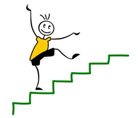 Strichmännchen Treppe