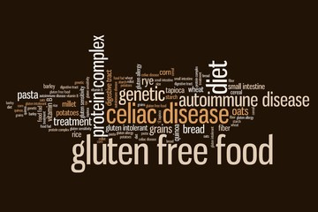 Gluten free - word cloud concept