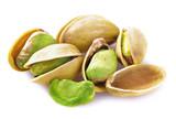 Fototapety Fresh pistachios isolated.