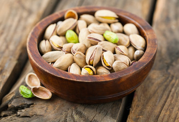 Fresh pistachio nuts.
