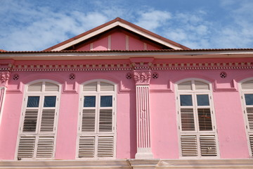 Pink Restored Building In Little India, Singapore