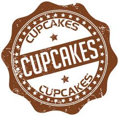 brown cupcake stamp