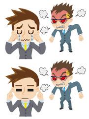 怒る上司と部下の反応