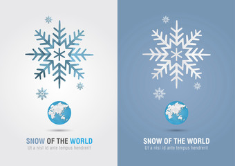Snow of the world. Eco info graphic icon. Creative marketing.