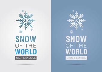 Snow of the world. Eco info graphic icon. Creative marketing.
