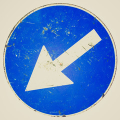 Retro look Arrow sign