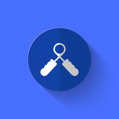 Illustration of expander flat icon