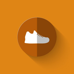 Illustration of sneakers flat icon