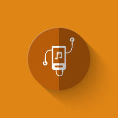 Illustration of mp3 player flat icon
