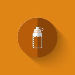 Illustration of sport bottle flat icon
