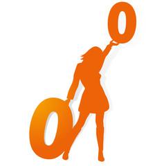 Discount percent sign orange