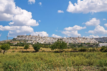Panoramic view of Minervino Murge. Puglia. Italy.