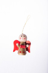 christmas tree ornament isolated