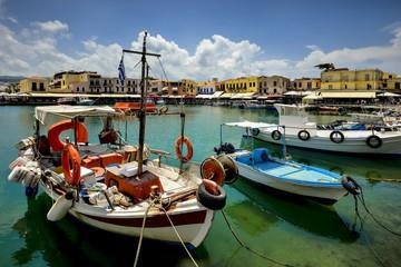Grecja, Kreta, Rethymnon, port rybacki