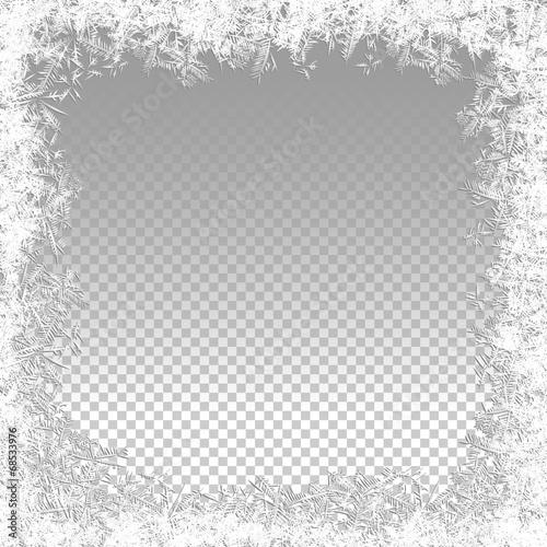 Zdjęcia na płótnie, fototapety, obrazy : Transparent Vector Frozen Background