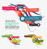 Vector abstract wave infographic
