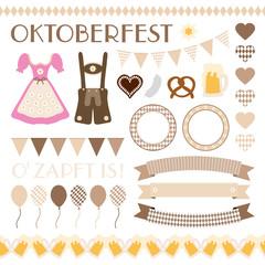 Octoberfest Symbols Collection Beige