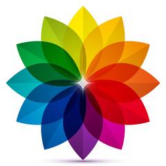 Colored Petals Icon