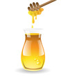 Honey vector on white background