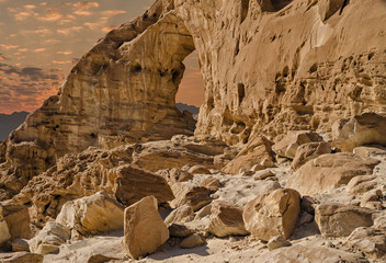 Arch in geological park Timna