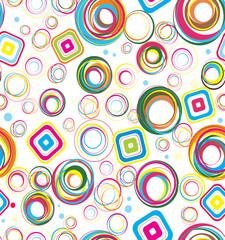 Colorful squares retro background