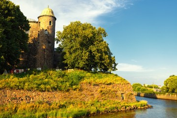 Vyborg Castle in sunset light
