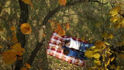 Couple Lying Under Autumn Tree 3