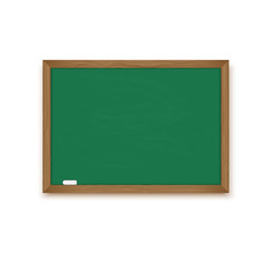 Blackboard and chalk isolated on a white background