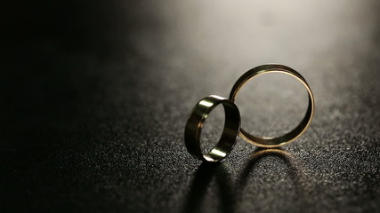 Wedding Rings on Table 2