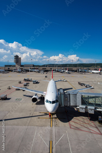 Panorama of Zurich Airport - 68536734