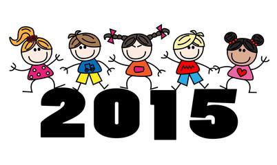 mixed kids new year 2015 calendar
