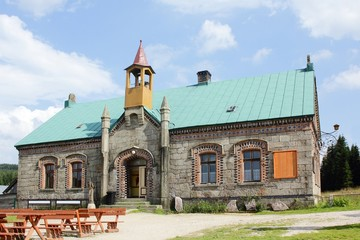 Mountain Refuge Orle at Jizera Mountains in Poland