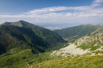 Amazing valley in summer mountains - West Tatras, Slovakia