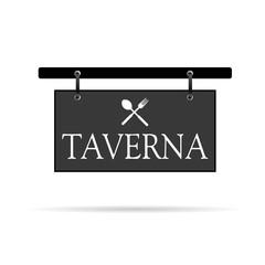 signboard for taverna vector illustration
