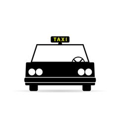 taxi vehicle icon vector illustration