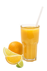 citrus juice in a tall glass