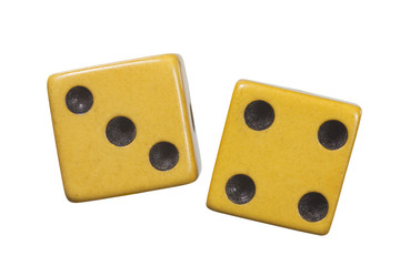 Antique Dice Macro Isolated Object