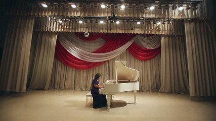 Woman Play a Piano 4