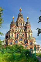 Saint Peter and Paul Cathedral in Russian city Peterhof, Russia
